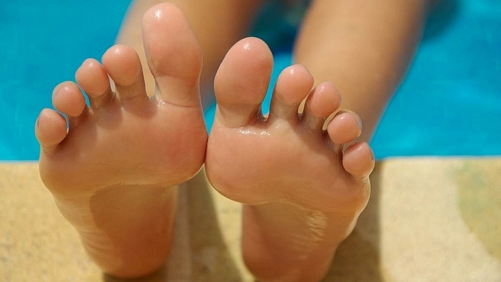 Füße im Yoga