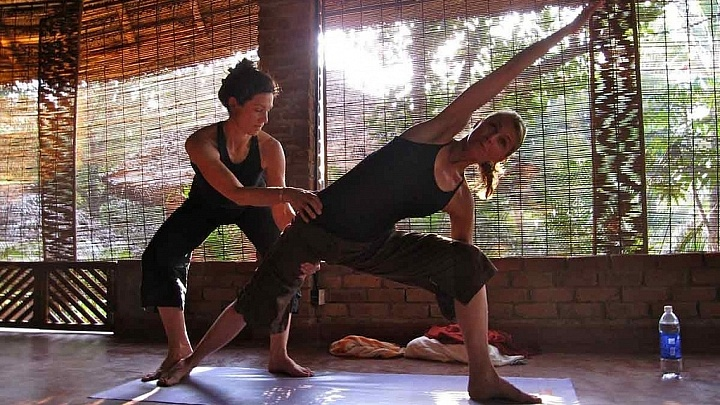 Die Stimme des Yoga Lehrers